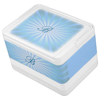 Monogram Ice Blue Igloo Can Cooler