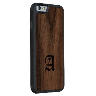 Monogram Imitation wood iPhone cover Carved® Walnut iPhone 6 Bumper