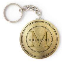 Monogram in Gold Foil Keychain