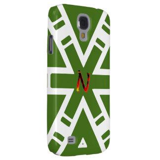Monogram in Green Symbols Samsung Galaxy S4 case