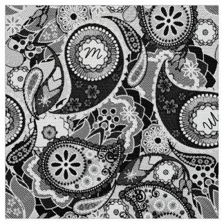 Monogram in Paisley Halftone Black/White MIPH Fabric