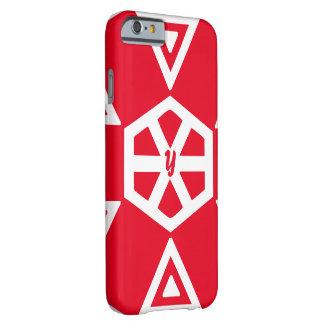 Monogram in red symbols iPhone 6 case