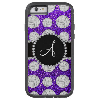 Monogram indigo purple glitter volleyballs tough xtreme iPhone 6 case