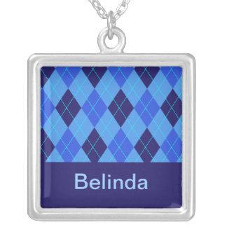 Monogram initial B personalised name necklace