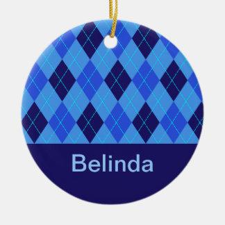 Monogram initial B personalised name ornament