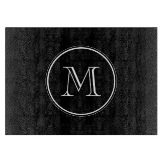 Monogram Initial Black High End Colored Cutting Board