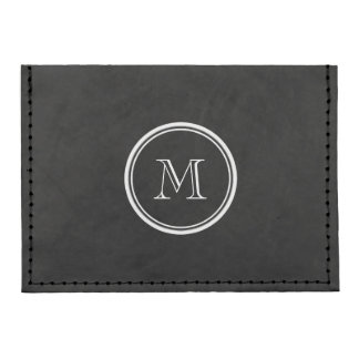 Monogram Initial Black High End Colored Tyvek® Card Case Wallet