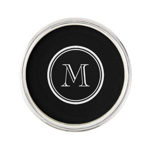 Monogram Initial Black High End Colored Pin