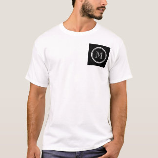 Monogram Initial Black High End Colored T-Shirt
