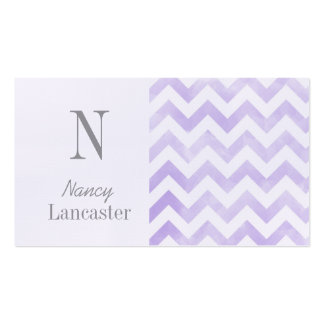 Monogram initial chevron mommy cards business card templates