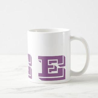 Monogram Initial E Mauve Modern Coffee Mug