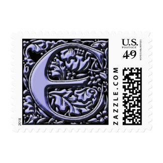 Monogram Initial E Postage Stamp