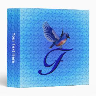 Monogram Initial F Bluebird Binder