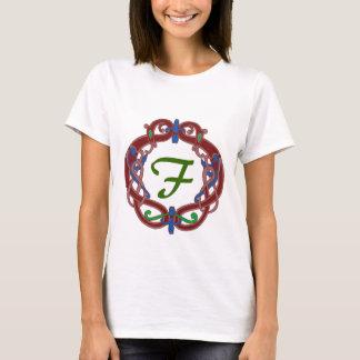 Monogram Initial F Celtic Design T Shirt