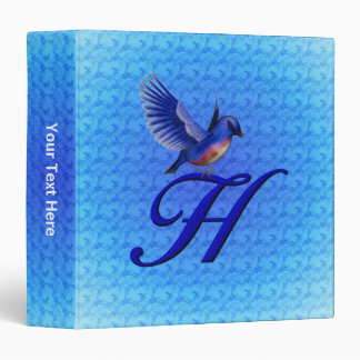Monogram Initial H Bluebird Binder