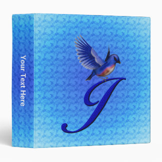 Monogram Initial J Bluebird Binder