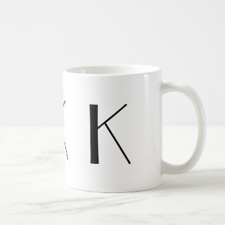 Monogram Initial K Black & White Modern Coffee Mug