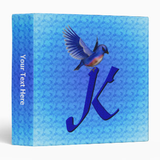 Monogram Initial K Bluebird Binder