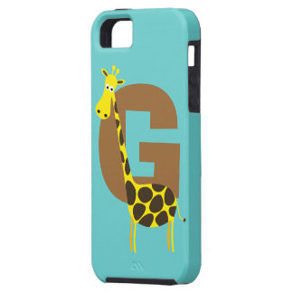 Monogram initial letter G giraffe cartoon custom iPhone 5 Cover