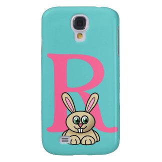Monogram initial letter R, rabbit cartoon custom Galaxy S4 Cover