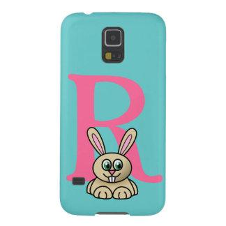 Monogram initial letter R, rabbit cartoon custom Galaxy S5 Cover
