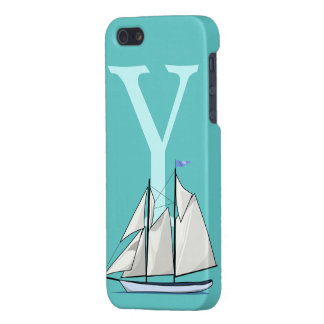 Monogram initial letter Y, yacht custom Cover For iPhone SE/5/5s