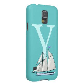 Monogram initial letter Y, yacht custom, gift Galaxy S5 Case