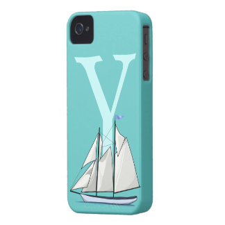 Monogram initial letter Y, yacht custom, gift iPhone 4 Case-Mate Case
