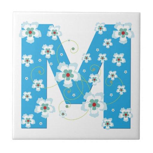 Letter M Tiles Letter M Decorative Ceramic Tile Designs