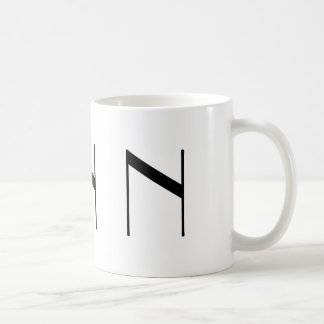 Monogram Initial N Black & White Modern Coffee Mug