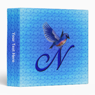 Monogram Initial N Bluebird Binder