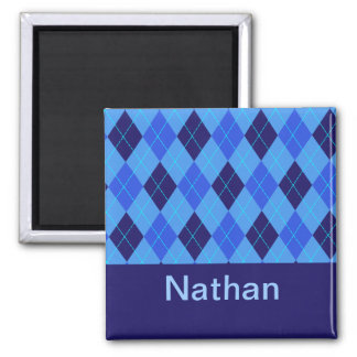 Monogram initial N personalised name magnet