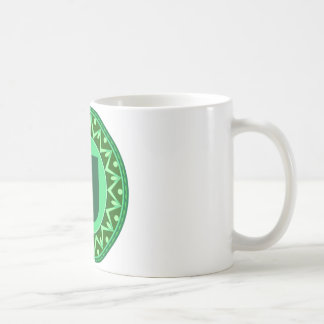 Monogram Initial name green letter alphabet u Coffee Mug
