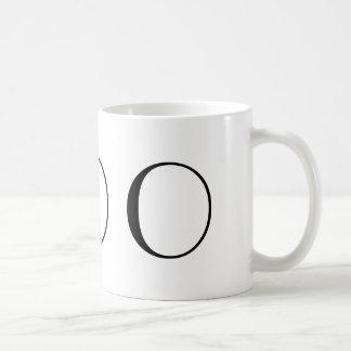 Monogram Initial O Black & White Modern Coffee Mug