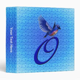 Monogram Initial O Bluebird Binder