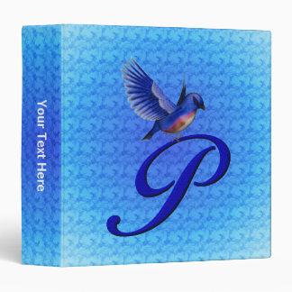 Monogram Initial P Bluebird Binder