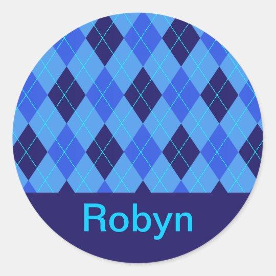 Monogram initial R personalised name stickers