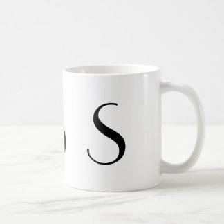 Monogram Initial S Black & White Modern Coffee Mug