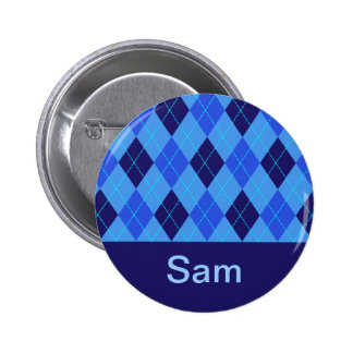 Monogram initial S personalised name button
