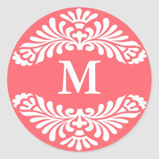 Monogram Initial Stickers :: Dubarry Pink
