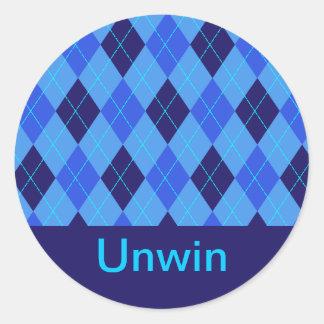 Monogram initial U personalised name stickers