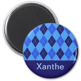 Monogram initial X personalised name magnet