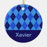 Monogram initial X personalised name ornament
