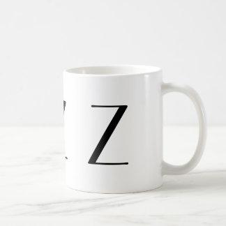 Monogram Initial Z Black & White Modern Coffee Mug
