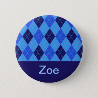 Monogram initial Z personalised name button