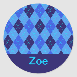 Monogram initial Z personalised name stickers