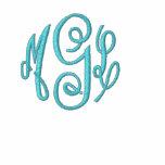 Monogram Initial Zip Jacket
