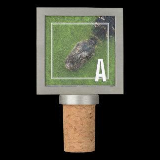 Monogram • Initials • Alligator • Florida Nature Wine Stopper