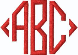monogram initials embroidered hoodie