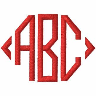 monogram initials embroidered hoodies